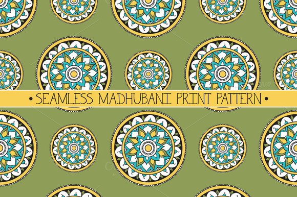 Seamless Madhubani Print Pattern