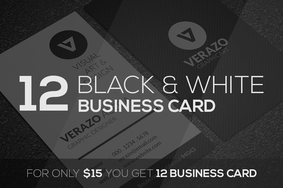 Black White Business Card Bundle