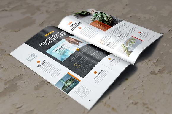 A4 Brochure Magazine Mockup
