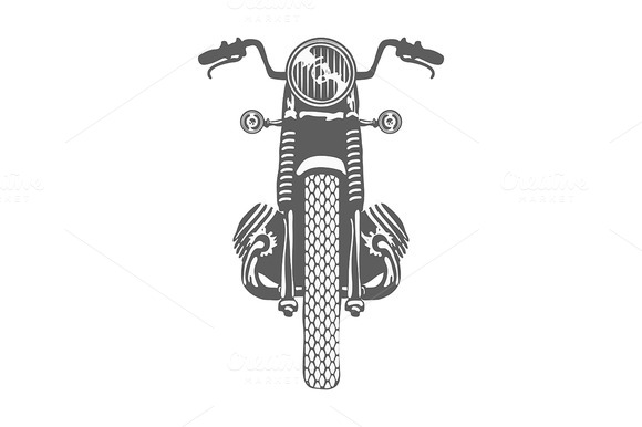 Hand Drawn Vintage Motor Bike Vector