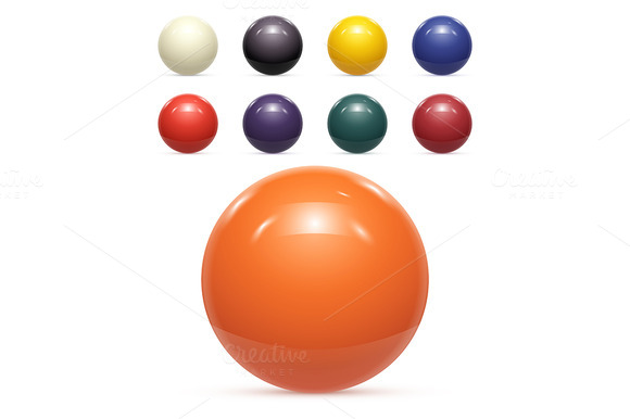 Set Of Colorful Balls Isolated