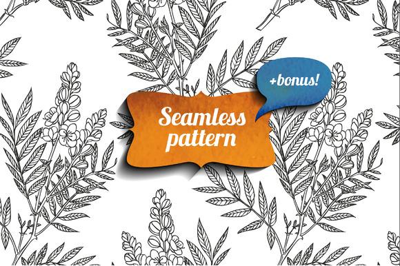 Senna Seamless Pattern Bonus