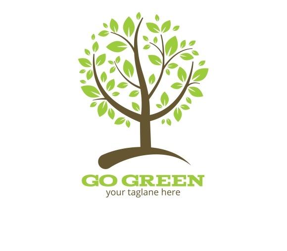Go Green Tree Logo