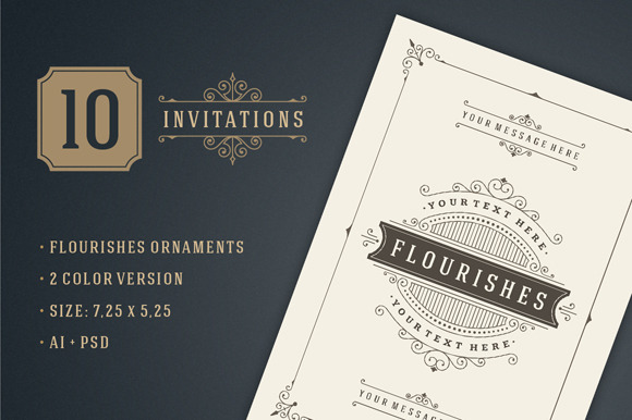 10 Vintage Invitations Volume 3