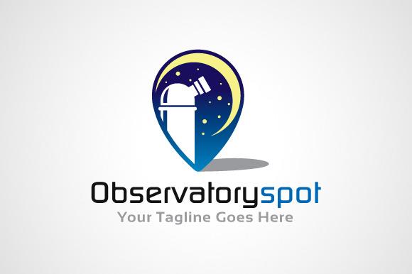 Observatory Spot Logo Design Icon