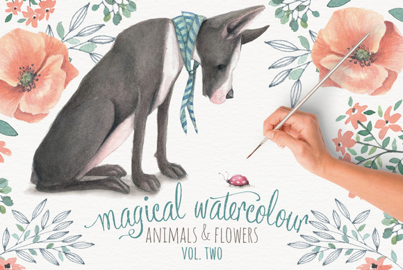 Magical Watercolor Graphics Volume 2