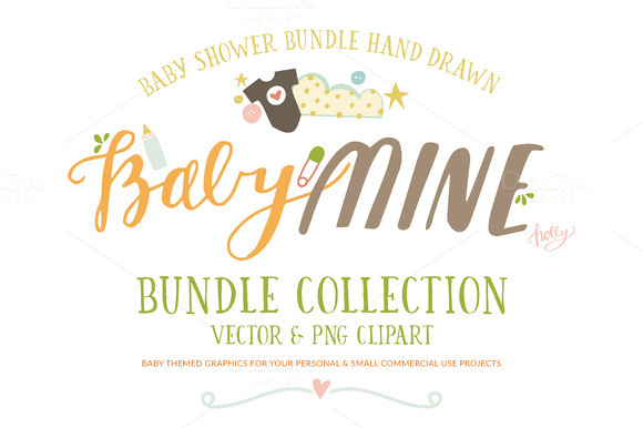 Baby Mine Bundle Clip Art
