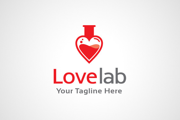 Love Lab Logo Design Icon