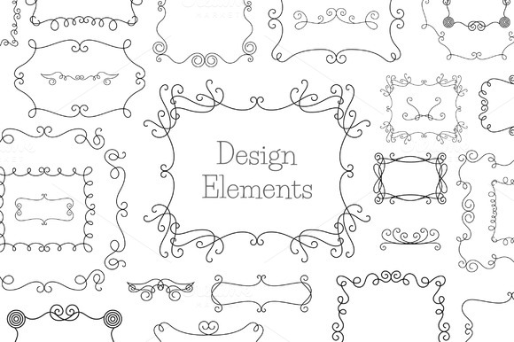 Vintage Decoration Design Elements