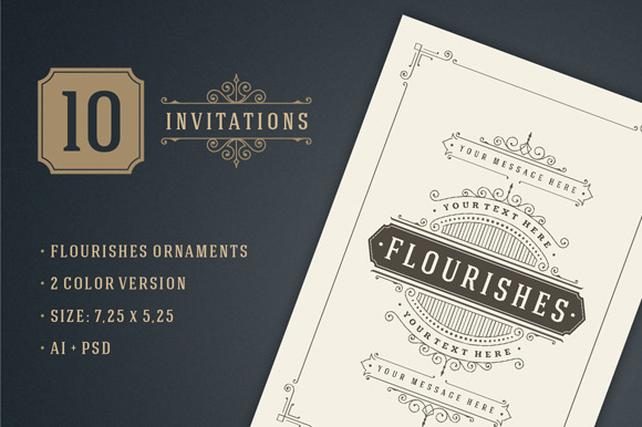 10 Vintage Invitations Volume 4