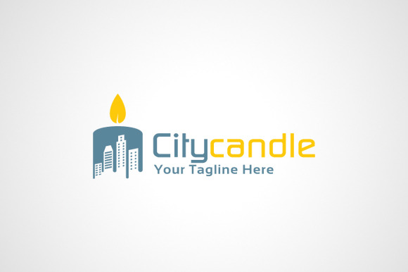 Candle Logo Design Icon