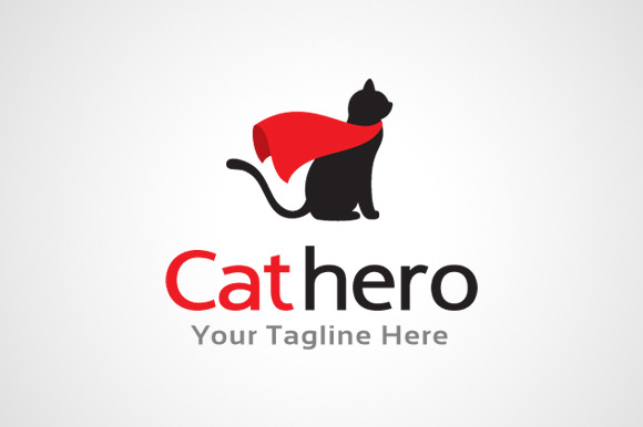 Cat Hero Logo Design