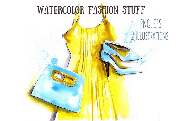 Watercolor Fashion Stuff