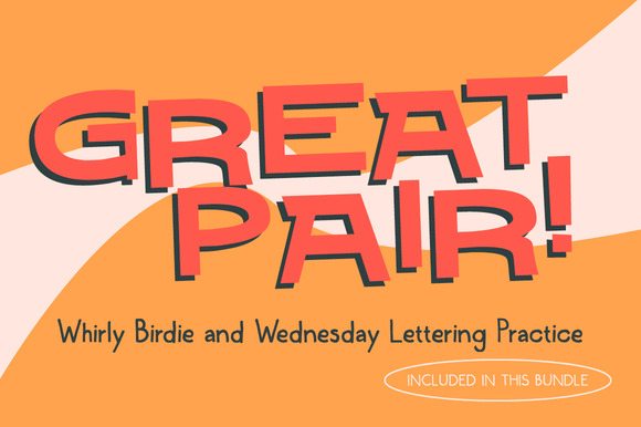 Whirly Birdie Wednesday Lettering
