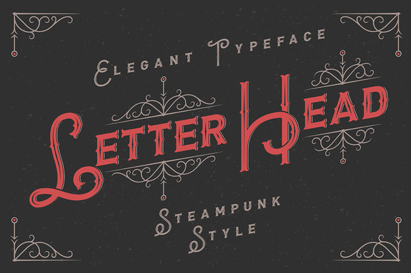 Letterhead Typeface With Ornate