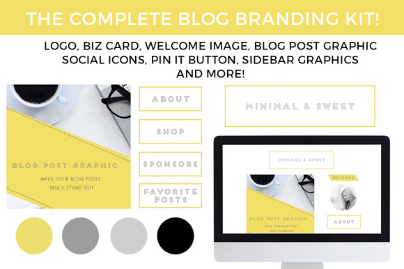 Blog Branding Kit Minimal Sweet