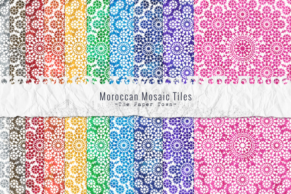Moroccan Mosaic Digital Papers