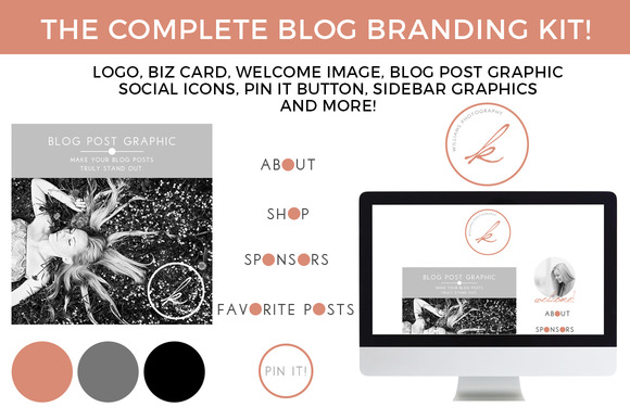 Monogram Blog Website Branding Kit