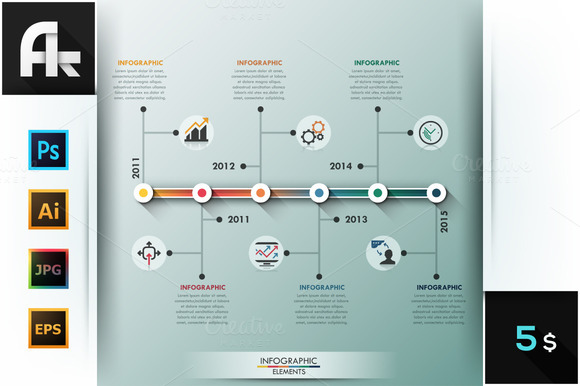 Modern Infographic Minimal Timeline