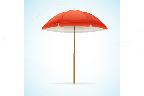 Vector Beach Umbrella