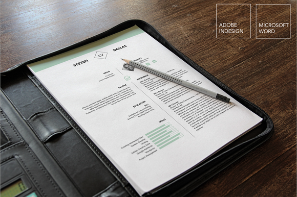 One Page Resume Template CL