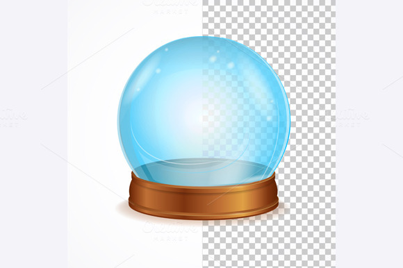 Vector Empty Crystal Ball