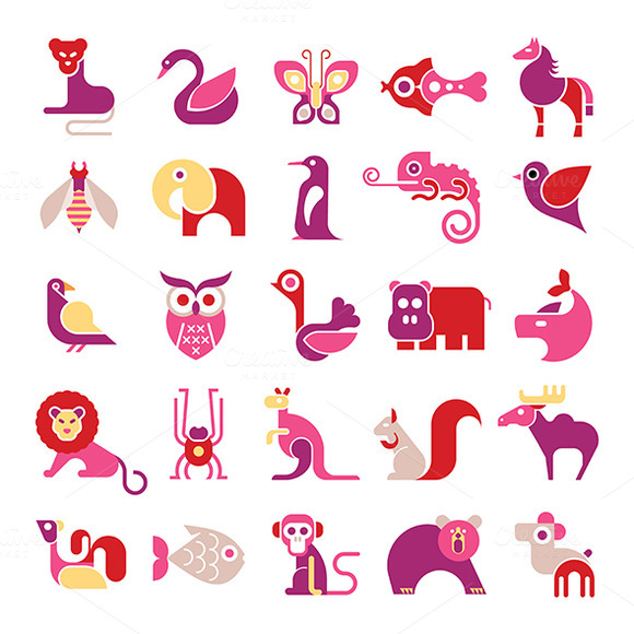 Animal Vector Icon Set