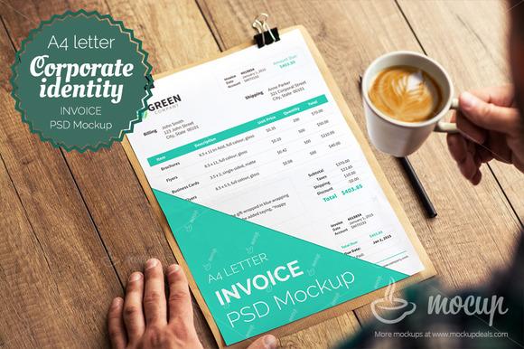 Invoice PSD Template Mockup A