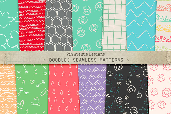 Doodles Seamless Patterns