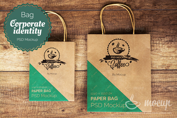 Shopping Bags PSD Mockup A