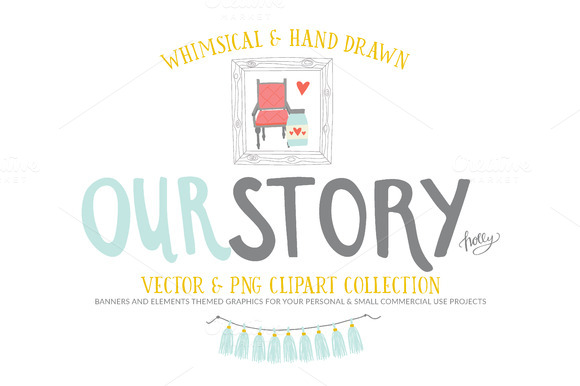 Our Story Vector PNG Clip Art