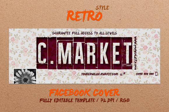 RETRO FLOWER- Facebook Cover