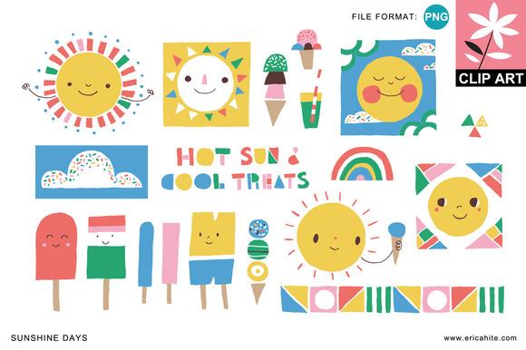 Sunshine Days Clip Art