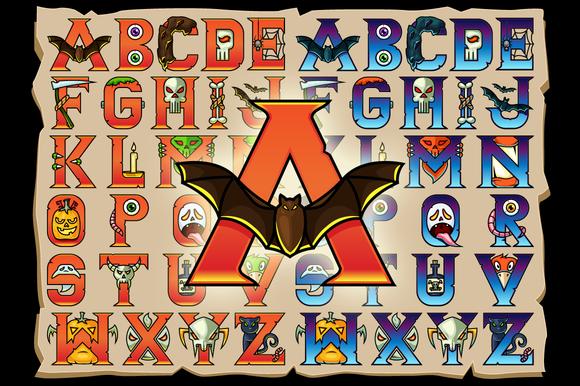 Halloween Alphabet Vector Letters