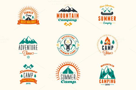 Summer Camping Badges