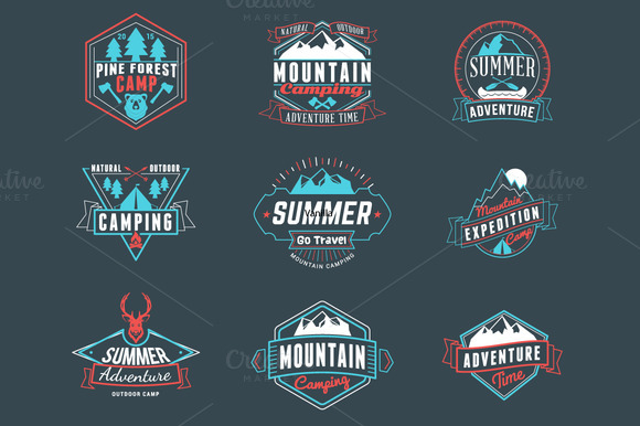 Summer Camping Badges