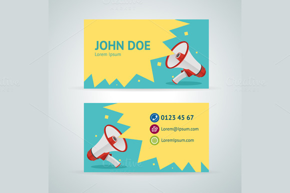 Vector Megaphone Business Card