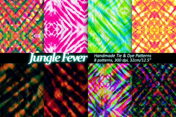 Tie Dye Patterns Set Of 8