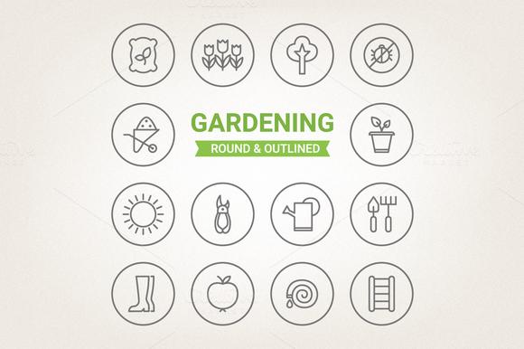 Circle Gardening Icons
