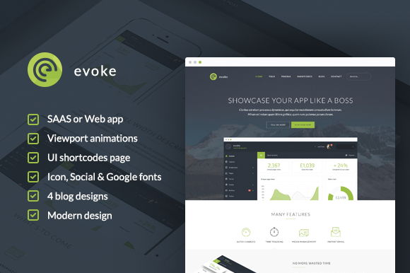 Evoke WordPress Theme