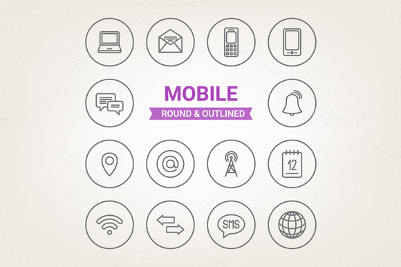 Circle Mobile Icons