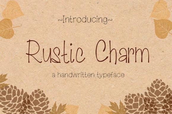 Rustic Charm- Handwritten Typeface