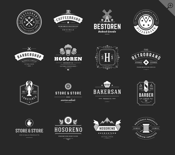 16 Vintage Logotypes Or Badges