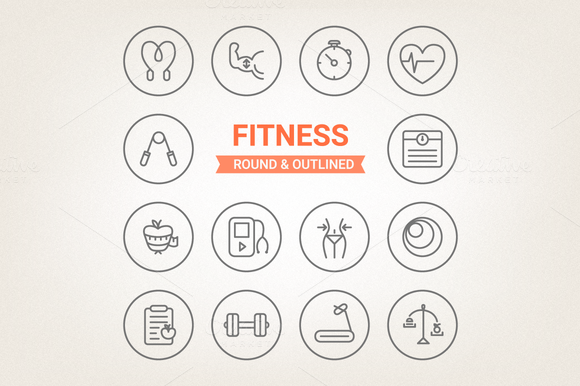 Circle Fitness Icons