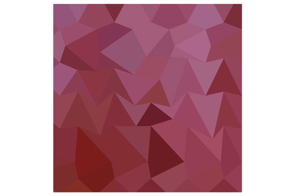 Antique Fuchsia Abstract Low Polygon