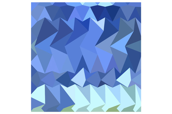 Brandeis Blue Abstract Low Polygon B