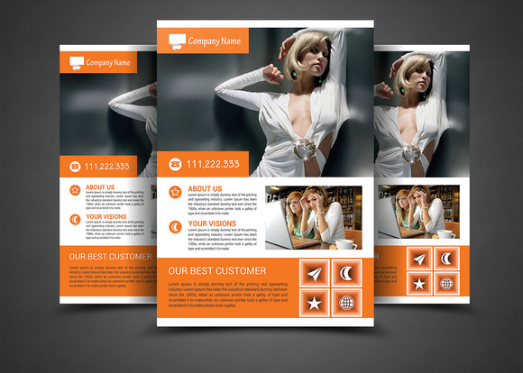 Corporate Business Flyer Print Templ