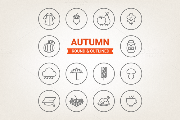 Circle Autumn Icons