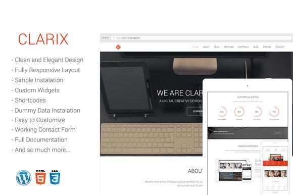 Clarix Portfolio Agenc Wordpress