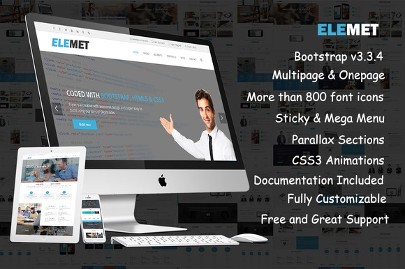 Elemet-HTML5 Bootstrap Template